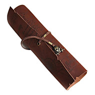 Storage Bags Vintage Pirate Roll Pen Pencil Case Pocket Map Pack Make Up Pouch Bag Caribbean(Random Color)