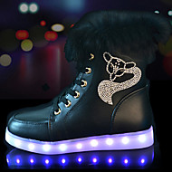 Dames Sneakers Lente Herfst Winter Comfortabel Noviteit Light Up Schoenen PU Buiten Casual Sport Platte hak Sprankelend glitter Veters LED