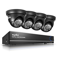 cheap DVR Kits-SANNCE® 720P Outdoor IR Home Security Camera 1080N 4CH HD DVR CCTV System Built-in 1TB HDD