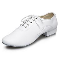 """billige Moderne sko-Herre Latin Jazz Kunstlær Sandaler Høye hæler Innendørs Ytelse Profesjonell Nybegynner Trening Kustomisert hæl Hvit Svart 1 """"- 1 3/4"""" Kan"""