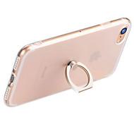 Käyttötarkoitus iPhone 7 iPhone 7 Plus iPhone 6 kotelot kuoret Sormuksen pidike Läpinäkyvä Takakuori Etui Yhtenäinen väri Pehmeä TPU