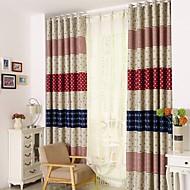 Et panel Window Treatment Land , Dyr Barnerom Polyester Materiale gardiner gardiner Hjem Dekor For Vindu