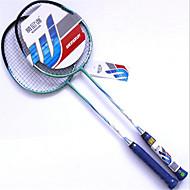 Badmintonschläger Unverformbar Dauerhaft Aluminium Legierung Ein Paar für Drinnen Draußen Leistung Training Legere Sport