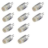billige Bi-pin lamper med LED-10pcs 1W 200lm G4 LED-lamper med G-sokkel T LED perler Høyeffekts-LED Varm hvit Kjølig hvit 12V