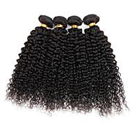 4 paquets extensions de tissus à cheveux bouclés et bouclés brésiliens 400g pleine tête de 8inch-28inch