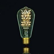 billige Glødelampe-1pc 3 E27 E26/E27 E26 B22 ST64 Varm hvit 2300 K LED-glødepærer 220V 85-265V
