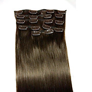 22inch # 2 remy cheveux humains extensions 8pcs / set (90g) les cheveux de type d'extension extensions de cheveux humains
