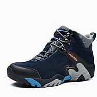 Bărbați Adidași de Atletism Toamnă Iarnă Confortabili PU Casual Atletic Toc Plat Dantelă Negru Albastru Maro Khaki Drumeții