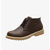 baratos Sapatos Masculinos-Homens Sapatos Confortáveis Couro Ecológico Outono / Inverno Botas Antiderrapante Preto / Amarelo / Café