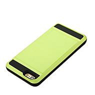 Etui Til Apple iPhone 6 Plus / iPhone 6 Kortholder Bagcover Ensfarvet Hårdt PC for iPhone 6s Plus / iPhone 6s / iPhone 6 Plus