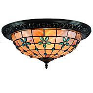 billige Taklamper-CXYlight Takplafond Omgivelseslys - Mini Stil, Tiffany Land Traditionel / Klassisk Retro Rød Moderne / Nutidig, 110-120V 220-240V Pære