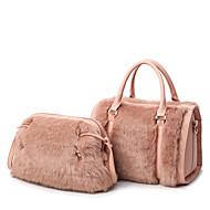 女性 バッグ レザーレット バッグセット 2個の財布セット のために カジュアル オールシーズン ホワイト ブラック ピンク