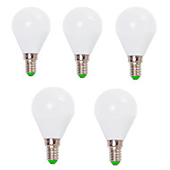 billige Globepærer med LED-EXUP® 5pcs 7W 800lm E14 E26 / E27 LED-globepærer G45 12 LED perler SMD 2835 Dekorativ Varm hvit Kjølig hvit 110-130V 220-240V