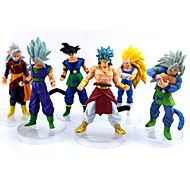 Anime Action Figures Inspireret af Dragon Ball Goku Anime Cosplay Tilbehør figur Gul PVC