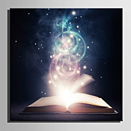 E-HOME® Stretched LED Canvas Print Art The Magic Book LED  Flashing Optical Fiber Print One Pcs