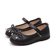 Tyttöjen kengät Tekonahka Kevät Syksy Mary Jane Tasapohjakengät Käyttötarkoitus Kausaliteetti Valkoinen Musta Punainen Pinkki