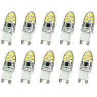 baratos Luzes LED de Dois Pinos-10pçs 1 W 300 lm G9 Luminárias de LED  Duplo-Pin T 14LED Contas LED SMD 2835 Decorativa Branco Quente / Branco Frio 220 V / 220-240 V / 10 pçs / RoHs