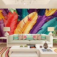 billige Tapet-Art Deco / 3D Bakgrunn For Hjem Moderne Tapetsering , Lerret Materiale selvklebende nødvendig Mural , Room wallcovering