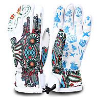 Skihandschoenen Heren Dames Lange Vinger Houd Warm waterdicht Sneldrogend Winddicht 100% Polyester Skiën Winter