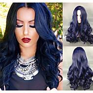 Femme Perruque Synthétique Sans bonnet Ondulation naturelle Bleu Perruque Naturelle Perruque Déguisement