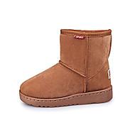 Jente sko Bomull Tekstil Høst Vinter Komfort Snøstøvler Støvler Gange Til Avslappet Formell Svart Avdempet Grå kaffe