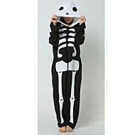 Kigurumi plišana pidžama Skeleton Duh Onesie pidžama Kostim Flis Crna/Bijela Cosplay Za Odrasli Zivotinja Odjeća Za Apavanje Crtani film