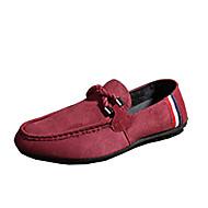 Loafers og Slip-ons-Fleece-Komfort-Herre-Sort Blå Rød-Fritid-Flad hæl