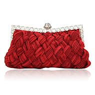 Vrouw Tassen Satijn Avondtasje met Kristal/Strass voor Evenement/Feest Beige Paars Fuchsia Rood Kristal