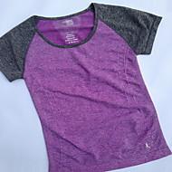 Damen Laufshirt Yan-pink  Violett Leicht Grün Sport Klassisch Sweatshirt Oberteile Yoga Übung & Fitness Rennsport Kurzarm Sportkleidung Atmungsaktiv Rasche Trocknung Schweißableitend Dehnbar