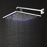 billige Rabatt Kraner-Moderne Regndusj Børstet Trekk - Regnfall LED, dusjhode