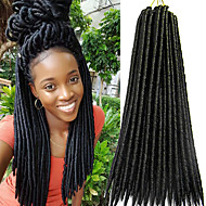 Dread Locks Havanna Haakwerk Faux Dreads Gehaakte faux dreads Dreadlock Extensions KanekalonBleach Blonde Paars Bordeaux Blauw Medium