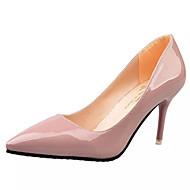 女性用 靴 PUレザー 春 / 夏 ヒール スティレットヒール ポインテッドトゥ ブラック / ダークグレー / ライトピンク