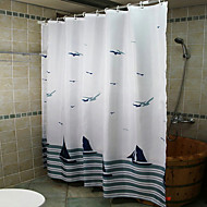 cheap Shower Curtains-Shower Curtains Neoclassical Polyester Curve Machine Made