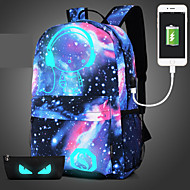 Unisex Bags All Seasons Polyester Backpack Sequin for Casual Sports Outdoor Blue