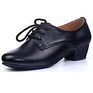 """billige Moderne sko-Herre Barns Dansesko PU Joggesko Høye hæler Trening Tvinning Tykk hæl Svart Under 1 """" Kan spesialtilpasses"""