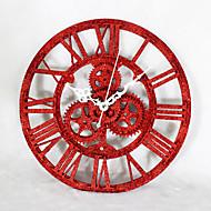 מודרני / עכשווי מסורתי אגבי משרד / עסקים בעלי חיים חופשה מעורר השראה משפחה סרט מצויר שעון קיר,מצחיק אקרילי מתכת 30 בבית/ בטבע שָׁעוֹן