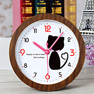 Creative Lovely Cat Clock Desk Clock Desk Alarm Clock Table Clock Creative Home Decorative Fashion Mute Watches