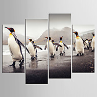 cheap Prints-Landscape Animal Modern Realism,Four Panels Canvas Any Shape Print Wall Decor For Home Decoration