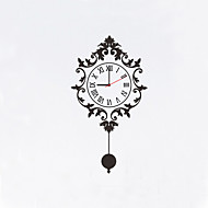 מודרני / עכשווי פרחוניים/בוטניים דמויות מעורר השראה חתונה משפחה חברים שעון קיר,מצחיק פלסטיק אחרים 81*45 בבית/ בטבע שָׁעוֹן
