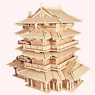 Χαμηλού Κόστους Παζλ 3D-Ξύλινα παζλ Διάσημο κτίριο Κινεζική αρχιτεκτονική Σπίτι επαγγελματικό Επίπεδο Ξύλο Χριστούγεννα Απόκριες Ημέρα του Αγίου Βαλεντίνου