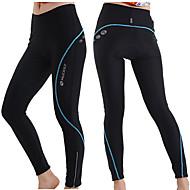 Nuckily Mulheres Calças Elásticas para Ciclismo - Azul / Rosa claro / Cinzento Moto Meia-calça, Térmico / Quente, Secagem Rápida,