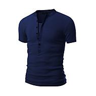 Rund hals Herre - Ensfarvet Bomuld Sport T-shirt