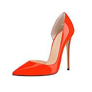 baratos Sapatos Femininos-Feminino Sapatos Couro Envernizado Primavera Verão Outono Saltos Salto Agulha Dedo Apontado para Casual Festas & Noite Vermelho Azul Rosa