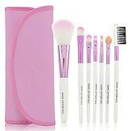 ieftine -Set Perii Cosmetice Machiaj pentru tine 7buc portabile  (roz)