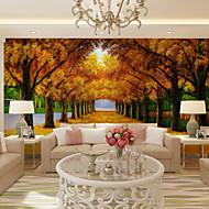 olcso -Virágos Art Deco 3D Wallpaper Otthoni Kortárs Falburkolat , Vászon Anyag ragasztószükséglet Falfestmény , szoba Falburkoló