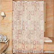 cheap Shower Curtains-Shower Curtains Neoclassical PEVA Geometric Machine Made