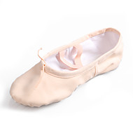 baratos Sapatilhas de Dança-Mulheres Sapatilhas de Balé Lona Sapatilha Sem Salto Personalizável Sapatos de Dança Vermelho / Rosa claro / Amêndoa / Interior