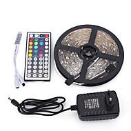5m 300smd 5050 водонепроницаемый 44 клавиш и пульт дистанционного управления 12v3a источник питания светодиодные полосы света наборы ac100-240v