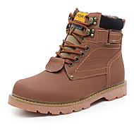 olcso -Kényelmes-Lapos-Női cipő-Csizmák-Sportos-Szövet-Barna Sárga Bronz