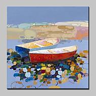 billiga Abstrakta målningar-HANDMÅLAD Abstrakt Abstrakta landskap olje,Moderna Europeisk Stil En panel Kanvas Hang målad oljemålning For Hem-dekoration